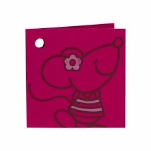 Label klein (dubbel) - Muisje Meisje -  Set van 10 stuks per vel