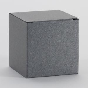 Kubusje - Staalgrijs glinsterend - Set van 5 stuks