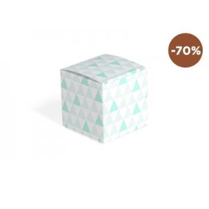 Kubusje - driehoekje groen - Set van 12 stuks