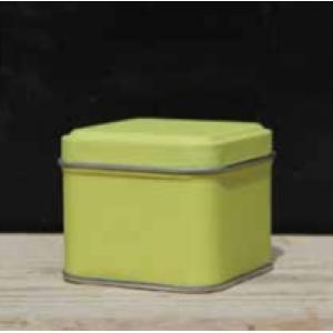 Vierkant metalen doosje - Lemoen - Set van 10