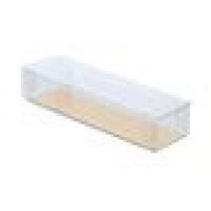 Transparant doosje - Rechthoekig groot met goudkarton - set van 10