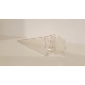 Transparant doosje - Cono Quad - set van 10