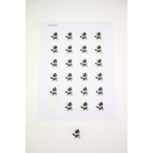 Ronde sticker - Hondje Pitty - Cement - Per vel van 24 stuks